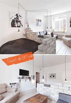 Jeg synes, at de her rumdelere kan være en fantastisk god løsning, specielt hvis man bor i en 1-værelses lejlighed og gerne vil separere spiseafsnit og seng. Hvis man ikke har ret højt til loftet, kan man bare nøjes med at gøre sine rumdelere lidt lavere, så de ikke dominerer rummet :) Jeg ha....