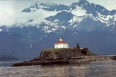 Eldred Rock Lighthouse near Skagway, Alaska