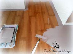 Painting over laminate flooring!