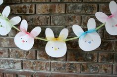 Bunny Banner Easter Bunny Garland by AveryleeDesigns on Etsy, $14.00
