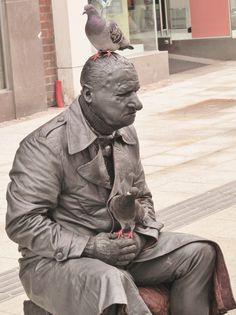Grafton Street Grafton Street, Dublin, Buddha, Statue, City, Cities, Sculptures, Sculpture