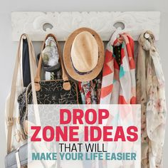Save time with these drop zone organizing ideas. Be able to find things when you need them! Step-by-step process for setting up your own simple drop zone.
