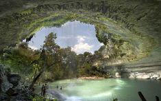 The Hamilton Pool Nature Preserve in Texas, USA