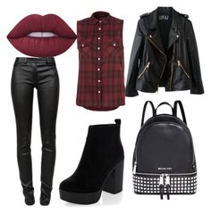 """""""❄❄❄"""" by alejandra-sassani ❤ liked on Polyvore featuring Lime Crime, Rosegold, T By Alexander Wang, New Look and Michael Kors"""