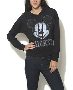 Cheetah Mickey Pullover Hoodie from Wet Seal