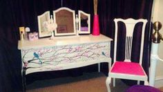 Special honey mooners hand painted dressing table