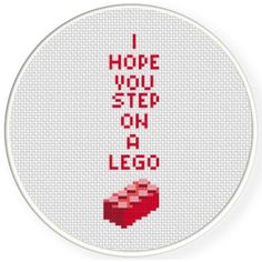 FREE for Nov 28th 2016 Only - I Hope You Step On A Lego Cross Stitch Pattern
