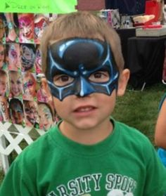 Batman mask face paint design