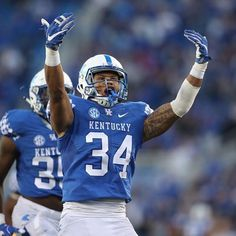 Kentucky football is now UK won a road game last week against Southern Miss, and today Kentucky beat EKU in front of the BBN at Commonwealth Stadium Kroger Field (still don't enjoy typin… University Of Colorado, University Of Kentucky, Kentucky Wildcats, Best Football Players, Uk Football, Football Helmets, American Football, Jordan Jones, Running Back