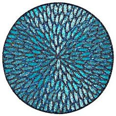 Aqua Beaded Round Placemat from Pier 1--this is SOOOOO beautiful but I would NEVER ever use it as a placemat but rather something to sit under a vase, small lamp, or something else... but it's definitely not getting anywhere near food