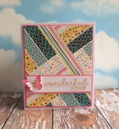A stunning, Wonderful You card by Craft Coordinator Maxine