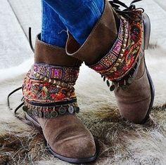 #Cubrebotas #étnico para botas marrones #boho chic
