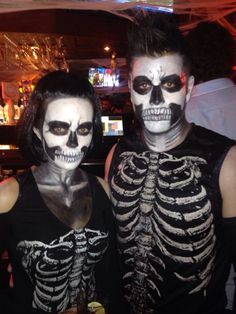 Halloween this year- skeletons #couples costume ideas
