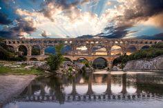 Photograph Pont du Gard by Martine Guay on Pont Du Gard, Roman, Bridge, France, World, Photograph, Fotografie, The World, Fotografia