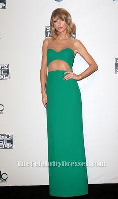 Taylor Swift Green Evening Dress 2014 American Music Awards
