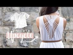 DIY Clothes | T-Shirt Upcycle with Macrame! - YouTube