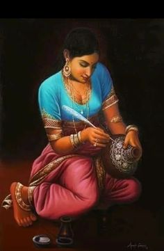 Indian Art Gallery, Indian Art Paintings, Indian Artist, Beautiful Paintings, Contemporary, Figurative, Style, Fashion, Swag