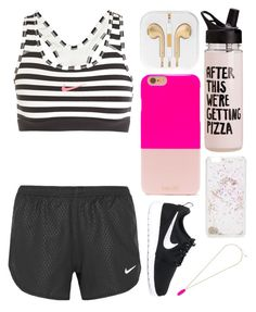 """Going On A Workout"" by emiliajf ❤ liked on Polyvore featuring BaubleBar, NIKE, ban.do and Kendra Scott"