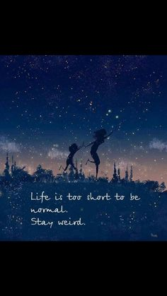 Life is too short to be normal Stay weird.