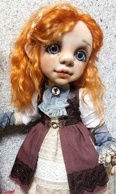 Коллекционные куклы ручной работы. Ярмарка Мастеров - ручная работа. Купить Кукла интерьерная текстильная. Рыжая малышка. Резерв.. Handmade.