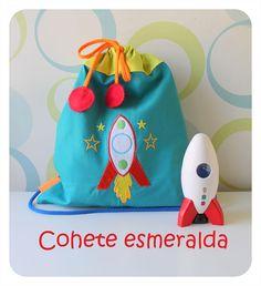 Talega modelo Cohete esmeralda de Algodón de Azucar.