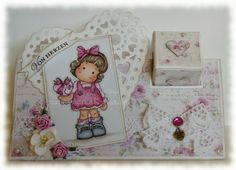 Parcel card Tilda with wrapped heart - Marinas Karten-Kiste: Herzig