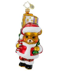 Christopher Radko Christmas Ornament, A Bear Who Cares Pediatric Cancer Charity