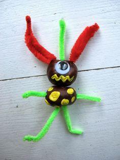 Kat this kat that kids Halloween craft ideas Conker monsters