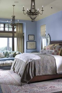 Love this blue hue for a bedroom - could work beautifully w/ a softer lighter shade of blue or cream color for the ceiling....  Low-Cost Changes You Can Make To Help Your Property Sell