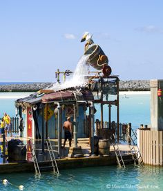 Pelican Plunge at Castaway Cay, Disney's private island in the Bahamas.