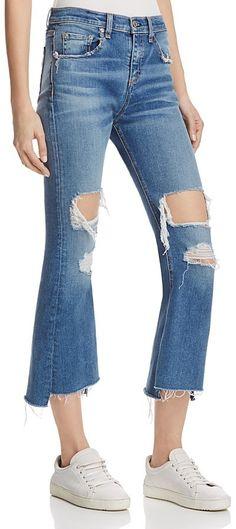 ed423b7d5 rag & bone/JEAN Capri Skinny Jeans (Dark Shredded)   Look Book   Pinterest    Capri, Skinny jeans and Skinny