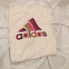 adidas athletic shirt this is adorable paired with a neon sports bra. check out the one listed in my closet! Adidas Tops Tees - Short Sleeve