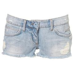Blue denim shorts - mine are similar but without distressing.