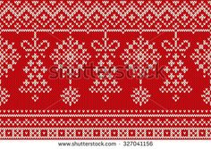 Winter Holiday Seamless Knitting Pattern. Christmas and New Year Background