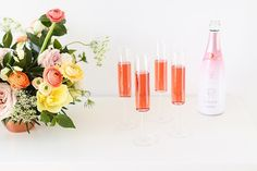 My 3rd Blogiversary + 10 Things I Learned in my Third Year of Blogging | Sparkling Rosé Wine in Modern Champagne Flutes | A Pantone Spring 2018 Inspired Birthday Celebration // JustineCelina.com Green Eyes Pop, Bite Beauty Amuse Bouche, Soft Corals, Live Coral, Champagne Flutes, Color Of The Year, Birthday Celebration, Color Trends, Pantone