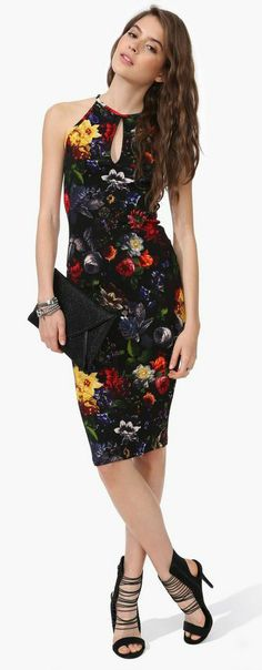 Midnight Orchid Midi Dress