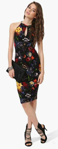 Midnight Orchid Midi Dress