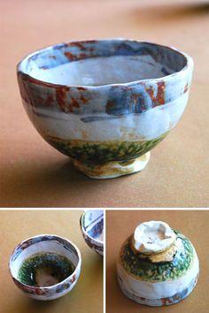 Mino-yaki  志野織部タタラ丸々碗 【美濃焼・秀峰窯】 Ceramic Texture, Chawan, Ceramic Design, Tea Bowls, Serving Bowls, Glaze, Projects To Try, Objects, Ceramics