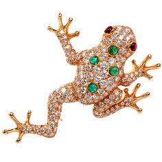 1stdibs - Oscar Heyman Diamond Frog Gold Pin Brooch explore items from 1,700  global dealers at 1stdibs.com