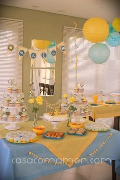 41 Best Blue Yellow Birthday Party Images On Pinterest Yellow