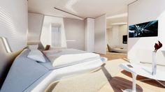 deluxe Wohnungen von zaha hadid-Innenarchitektur Schlafzimmer-Futuristische Gestaltung der wände
