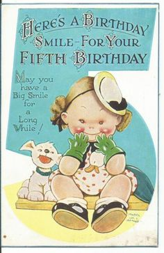 "MABEL LUCIE ATTWELL ""HERS'S A BIRTHDAY SMILE"" 