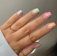 Simple Acrylic Nails, Summer Acrylic Nails, Best Acrylic Nails, Simple Nails, Pink Shellac Nails, Shellac Nail Designs, Aycrlic Nails, Spring Nail Art, Spring Nails