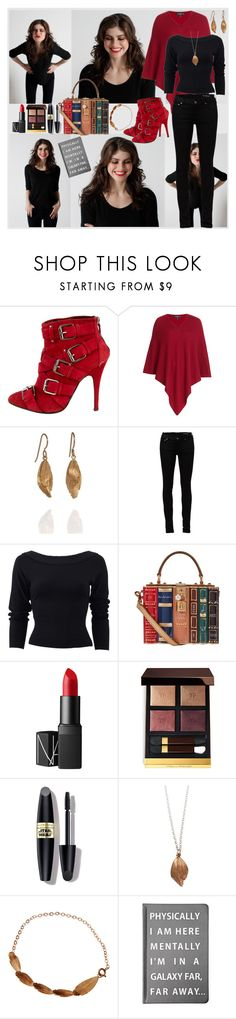 """""""Bookworm in a galaxy far far away"""" by julyralewis ❤ liked on Polyvore featuring Giuseppe Zanotti, Etro, AURUM by Guðbjörg, Yves Saint Laurent, Donna Karan, Dolce&Gabbana, NARS Cosmetics, Tom Ford, Max Factor and Forever 21"""