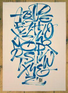 """Blue Alphabet"" by Luca Barcellona"