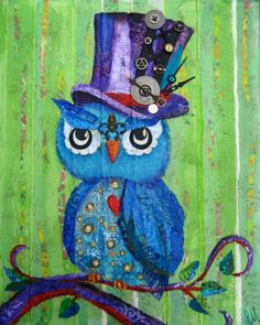 8 X 10 Print  Mixed Media Collage  Steampunk by apinchofwonderful, $15.00