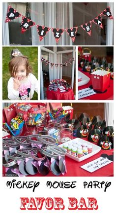 Mickey Mouse Kids Party Favor Bar