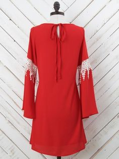 Altar'd State Game Day Lace Inset Dress