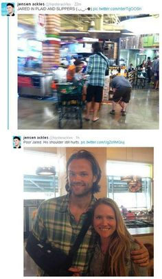 Jared shopping and with a lucky fan   via @hipsterackles.. thank you