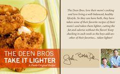 The Deen Bros. Lighter Crunchy Coconut Chicken Fingers with Pineapple Salsa on PaulaDeen.com